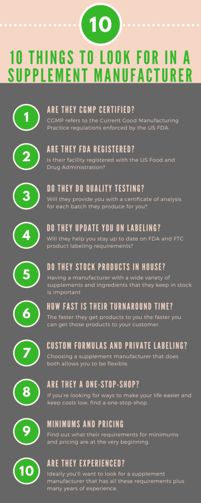 10 Things To Look For In A Quality Supplement Manufacturer | QSM