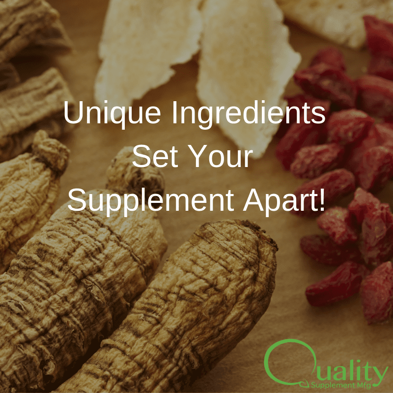 how to set supplement business apart with ingredients